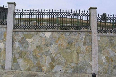 Muro decoración con laja cuarcita 13