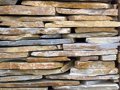 Planchón, roca cuarcita en palé
