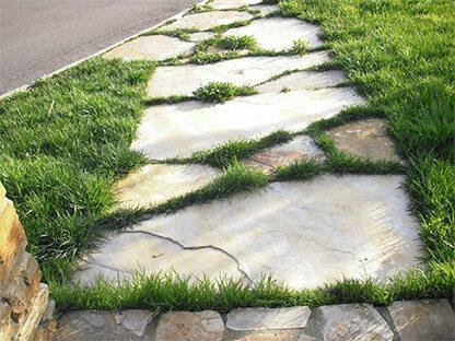 planchón en suelo jardín